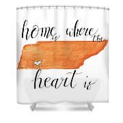 Home Is Where The Heart Is Shower Curtain