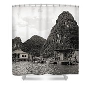 Homes On Ha Long Bay Boat People  Shower Curtain