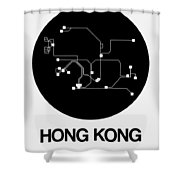 Hong Kong Black Subway Map Shower Curtain