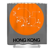 Hong Kong Orange Subway Map Shower Curtain