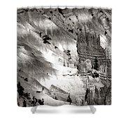 Hoodoo's Black White Utah  Shower Curtain