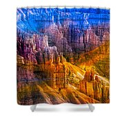 Hoodoo's Rainbow Color Mix Bryce Canyon  Shower Curtain