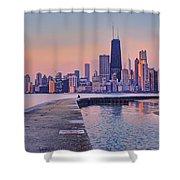 Hook Pier - North Avenue Beach - Chicago Shower Curtain