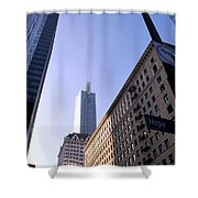 Hope Street View Los Angeles Shower Curtain