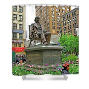 Horace Greelly, First President Of Typographic Union Of New York City Shower Curtain