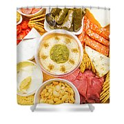 Hors D'oeuvre Shower Curtain