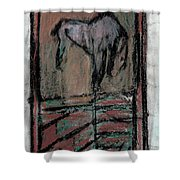 Horse Stables Shower Curtain