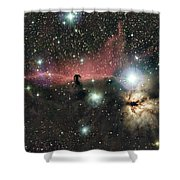 Horsehead And Flame Nebulae Shower Curtain