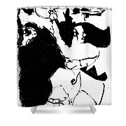Horseman Being Chased By A Monster Shower Curtain