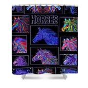 Horses Poster Shower Curtain