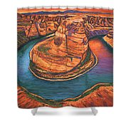 Horseshoe Bend Sunset Shower Curtain