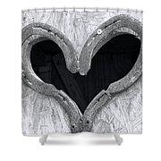 Horseshoe Heart Shower Curtain