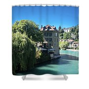 hot summer afternoon in Bern Shower Curtain