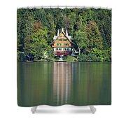 House On The Lake Shower Curtain by Davor Zerjav