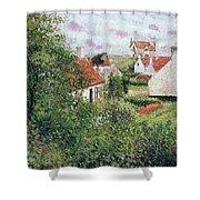 Houses At Knocke, Belgium, 1894 Shower Curtain