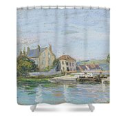 Houses On The Bank Of Ecluse At The Gazonne Shower Curtain
