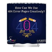 How Can You Turn The 404 Error Pages Interesting And Engaging Shower Curtain
