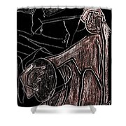 How The Camel Got His Hump Digital And Drawings D10-4 Shower Curtain