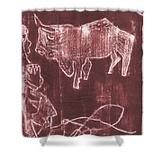 How The Camel Got His Hump Oil Otd Painting 16 Shower Curtain