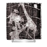 How The Leopard Got His Spots Black Oil Painting Otd14 Shower Curtain