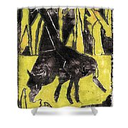 How The Leopard Got His Spots Oil Painting Otd3 Shower Curtain