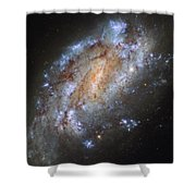 Hubbles Lonely Firework Display Shower Curtain