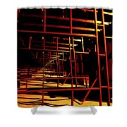 Hurdles Shower Curtain
