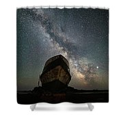 Hurkett Shipwrecks On A Late June Night Shower Curtain
