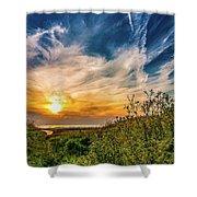 Huron Evening Shower Curtain