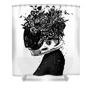 Hybrid Girl Shower Curtain