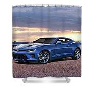 Hyper Blue Shower Curtain