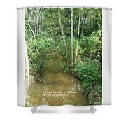I Am A Small Stream With Big Impact Shower Curtain
