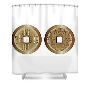 I Ching Coins Shower Curtain