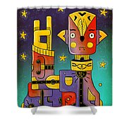 I Come In Peace - Heavy Metal Shower Curtain by Sotuland Art