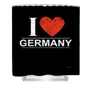 I Love Germany Shower Curtain