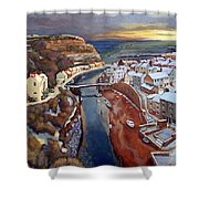 I Saw Three Ships Come Sailing In, On Christmas Day In The Morning. Shower Curtain