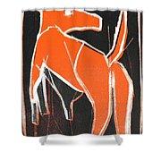 I Was Born In A Mine Orange Dog 33 Shower Curtain