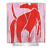 I Was Born In A Mine Red Dog 34 Shower Curtain