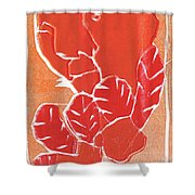 I Was Born In A Mine Woodcut 38 Shower Curtain