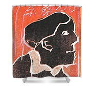 I Was Born In A Mine Woodcut 49 Shower Curtain
