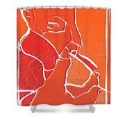I Was Born In A Mine Woodcut 69 Shower Curtain