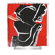 I Was Born In A Mine Woodcut 7 Shower Curtain