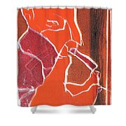 I Was Born In A Mine Woodcut 76 Shower Curtain