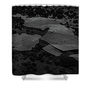 Ice Layer On The Seafloor Shower Curtain