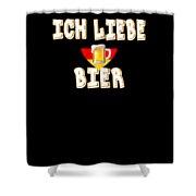 Ich Liebe Bier Fun German Oktoberfest Beer Festival Design For Beer Lovers And Beer Drinkers Shower Curtain