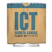 Ict Wichita Luggage Tag I Shower Curtain