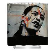 I'll Be Seeing You - Billie Holiday  Shower Curtain