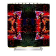 imagery in healing in a Buddhism way Shower Curtain