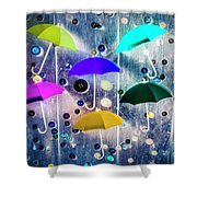 Imagination Raining Wild Shower Curtain