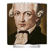 Immanuel Kant, Philosopher, Born In Konigsberg, Germany Shower Curtain